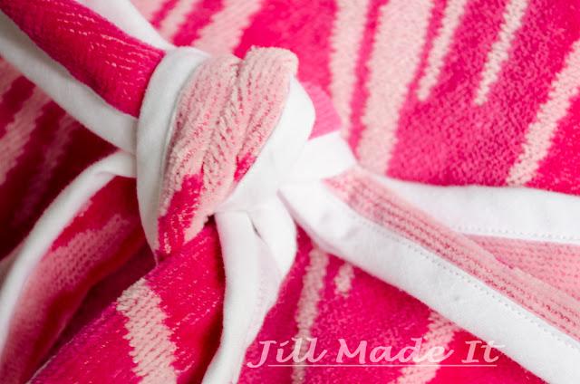 Beach Robe Tutorial:  The Tie