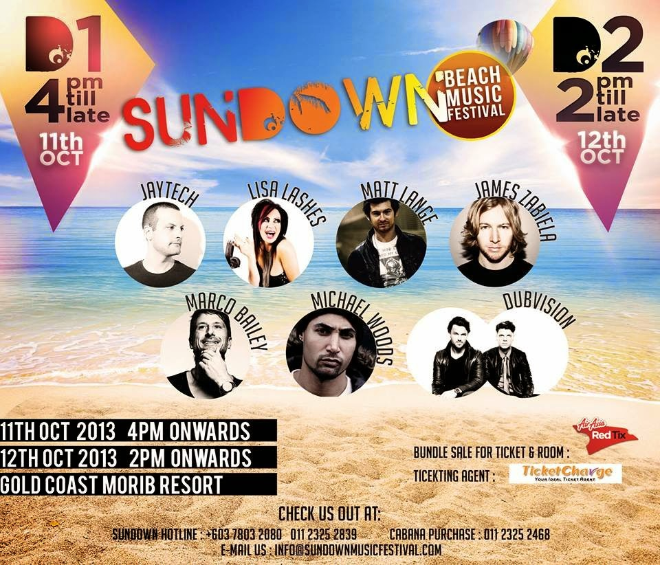 Sundown Beach Music Festival Malaysia