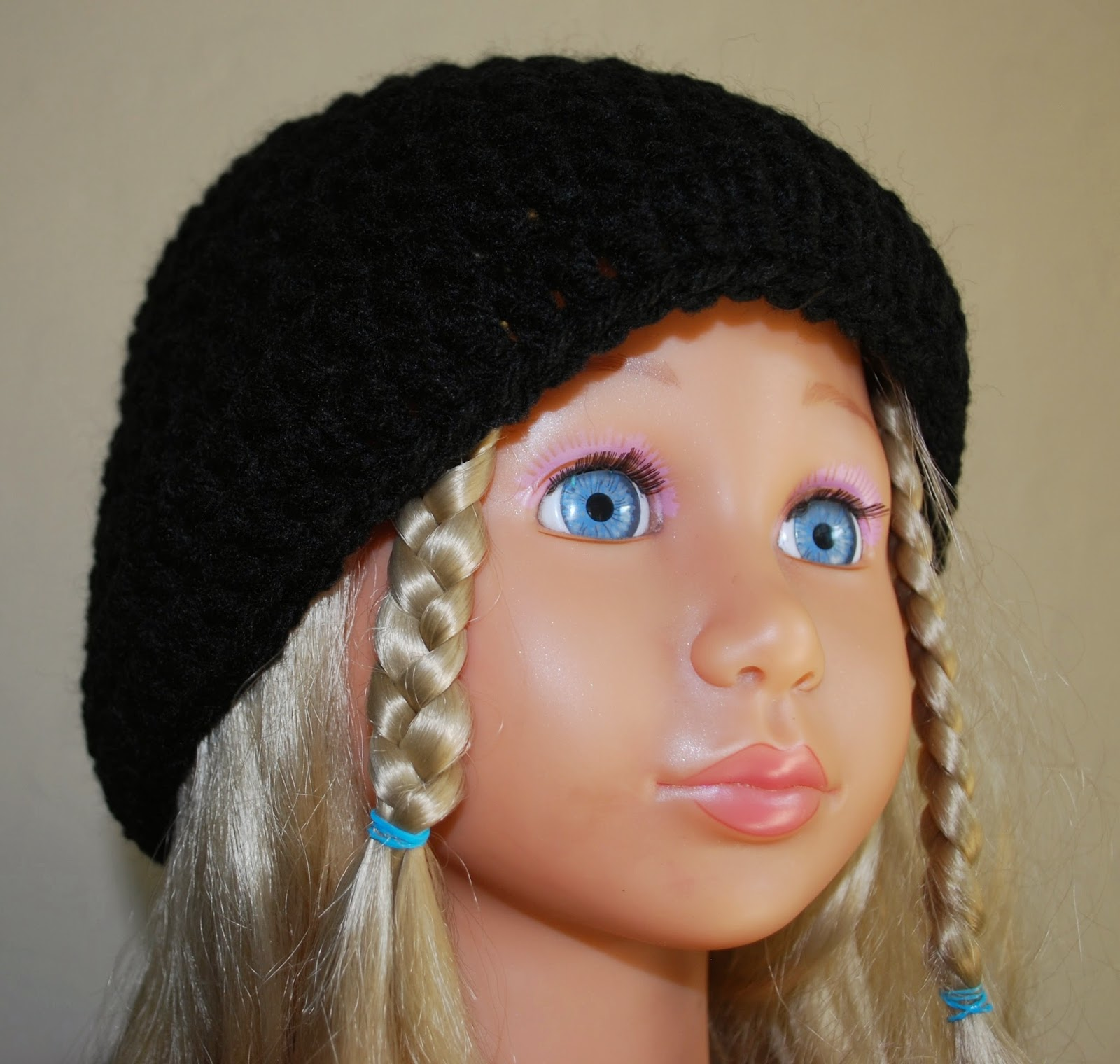 Crochet black hat