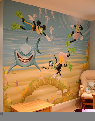 myckey mouse wall murals