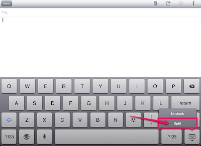 The context menu triggered from the keyboard on iPad