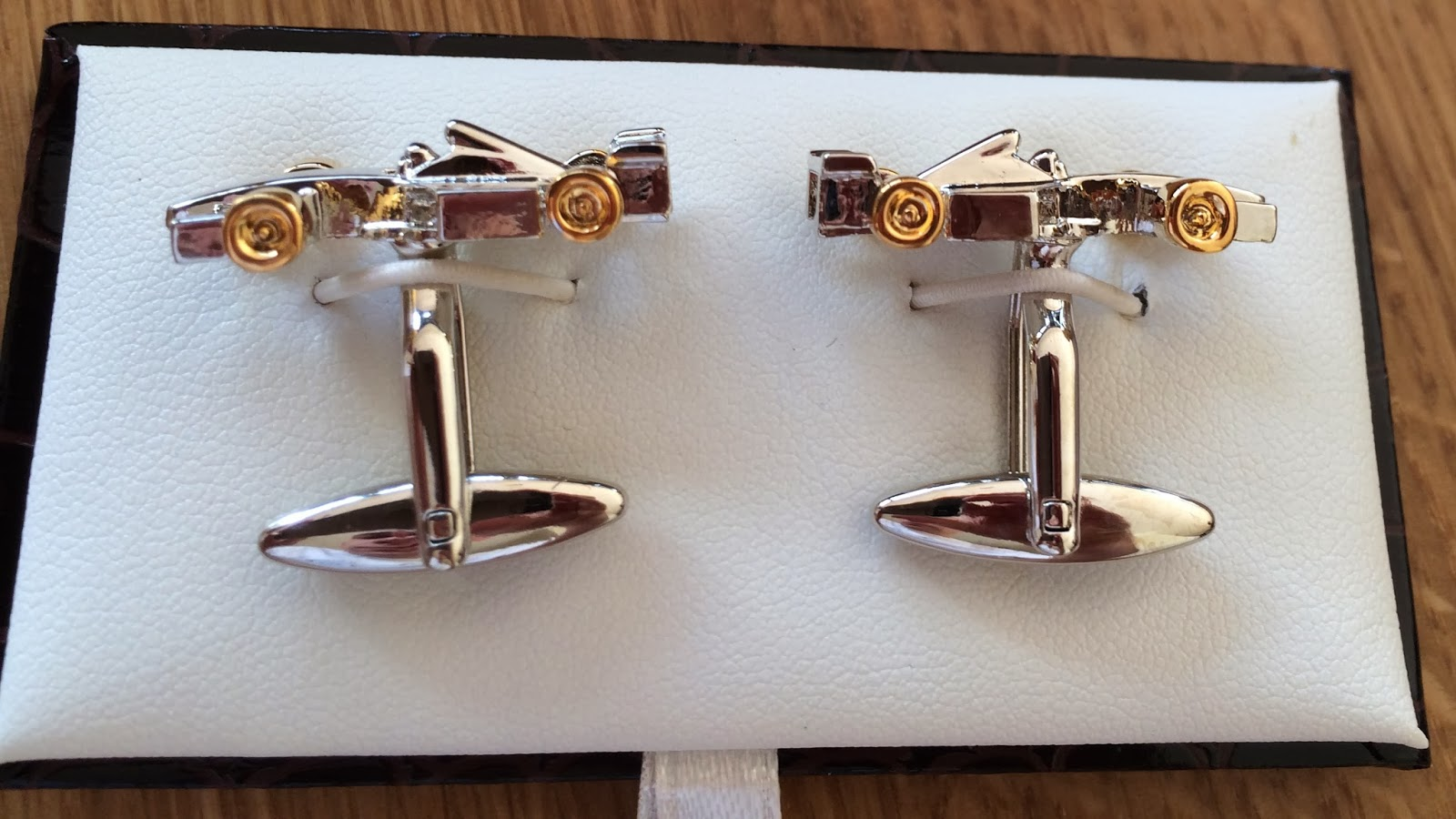 F1 Car Cufflinks - a must for any car enthusiast