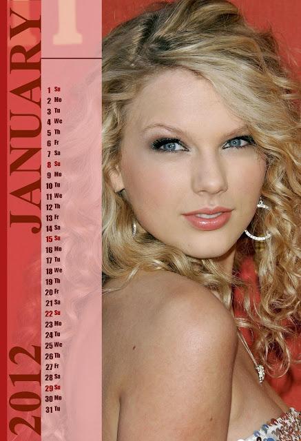 Taylor Swift 2012 Calendar Taylor Swift Calendar 2012