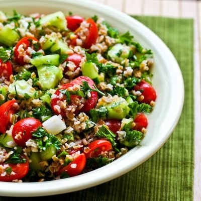 This Bulgur Salad with Tomatoes, Cucumbers, Parsley, Mint, and Lemon ...