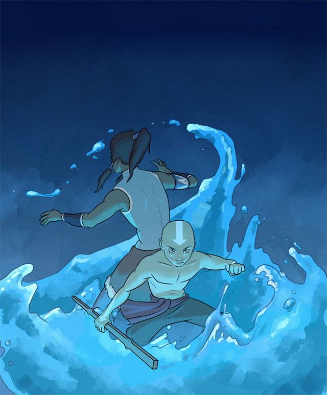 Avatar Aang and Korra