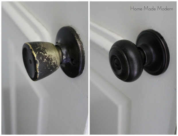 new doorknobs