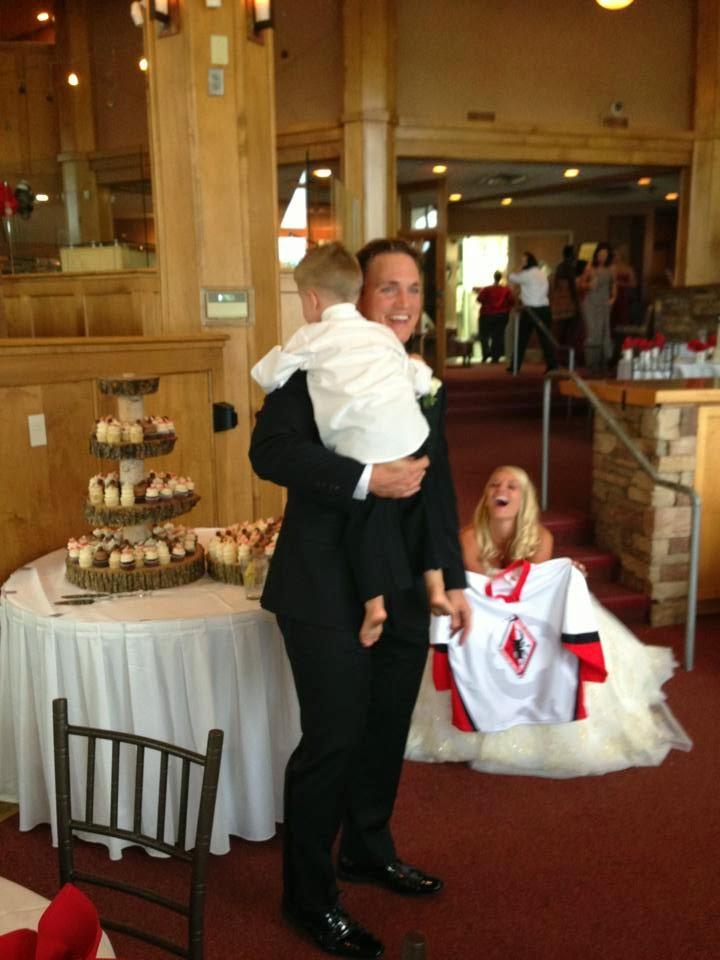 hockey themed wedding