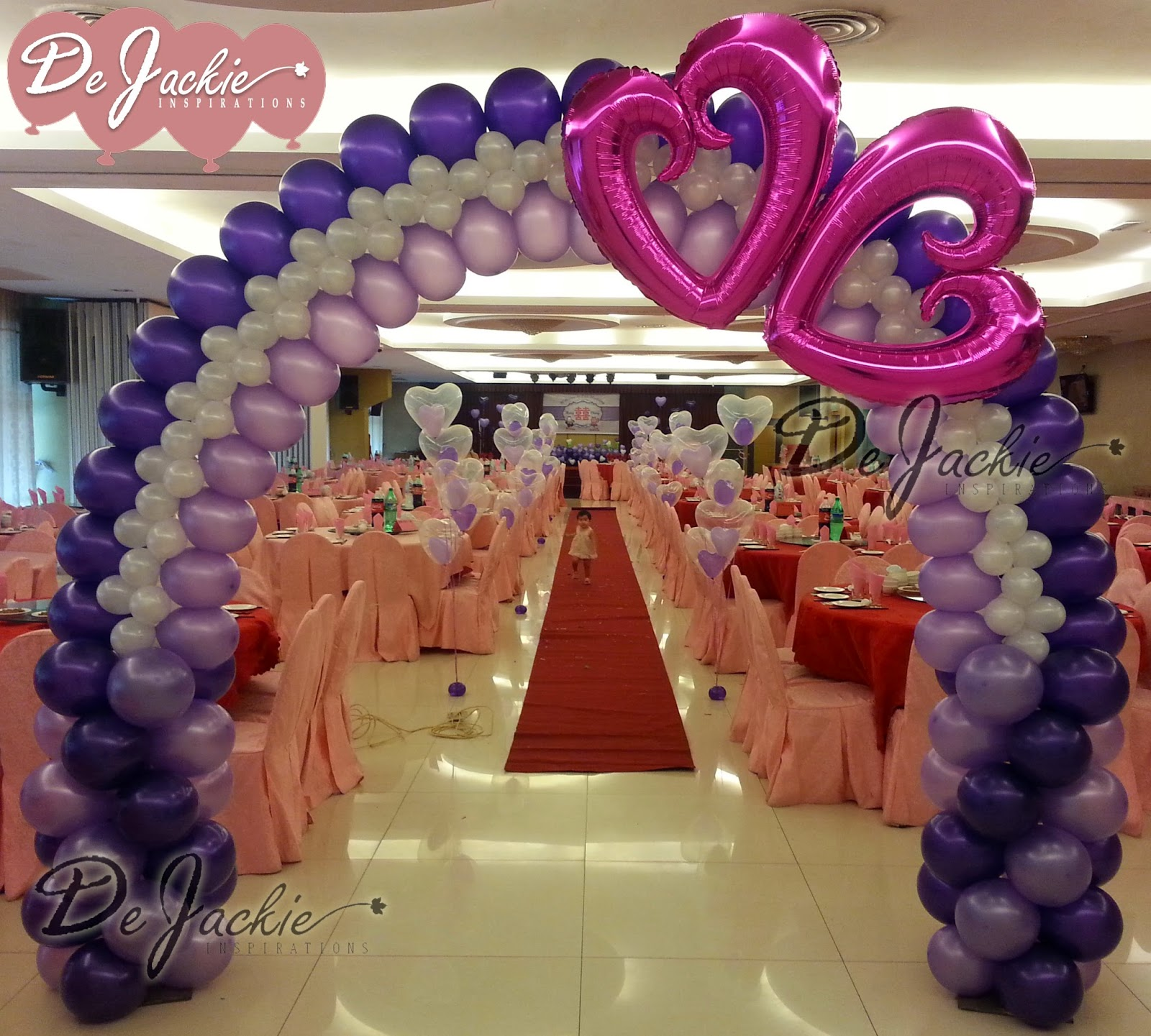 Balloon decorations for weddings birthday parties for Balloon decoration for weddings