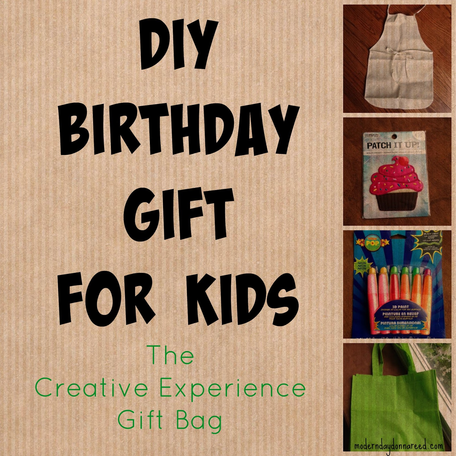 DIY Gift Idea For Kids The Creative Experience Bag
