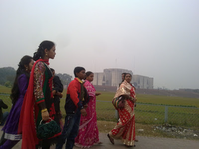 Bangladeshi Women Visiting National Parliament.