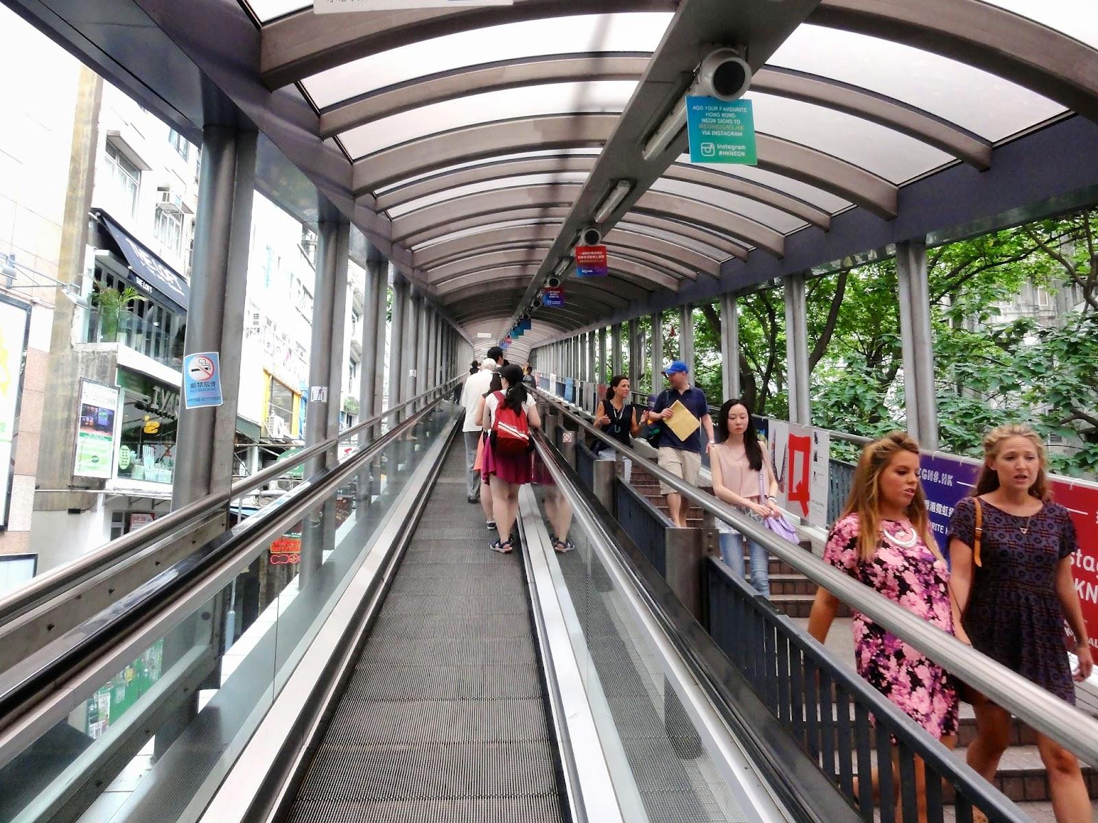Central Mid-Level Escalators Hong Kong