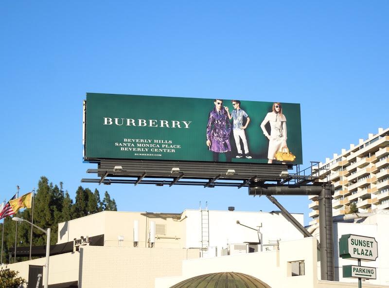 Burberry SS 2013 billboard
