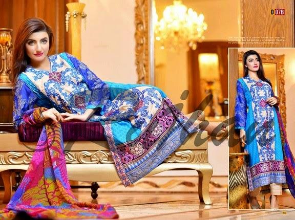 FestivanaEidCollectionByRujhanFabrics wwwfashionhuntworldblogspot 2  - Festivana Eid Collection 2014-2015 By Rujhan Fabrics