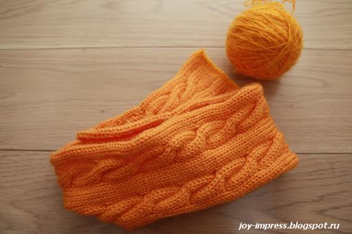 Заготовка для вязаной шапки
