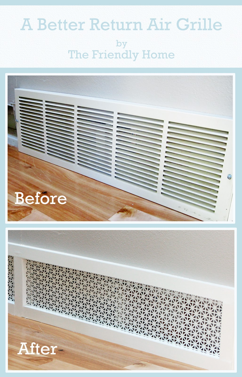 A better looking return air grille for What not to do before closing on a house