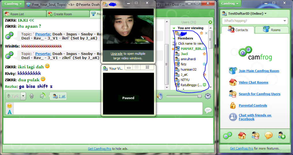 Free embed chat rooms