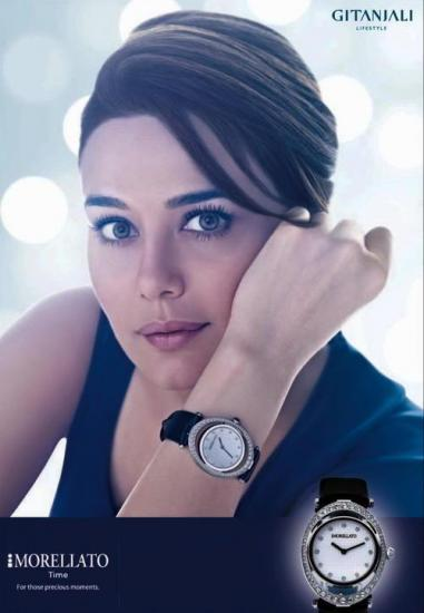 Preity Zinta's New Print Ad for Morelatto Watches
