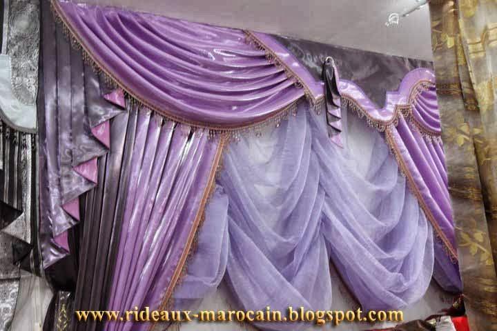rideaux marocain double rideaux occultants uni. Black Bedroom Furniture Sets. Home Design Ideas