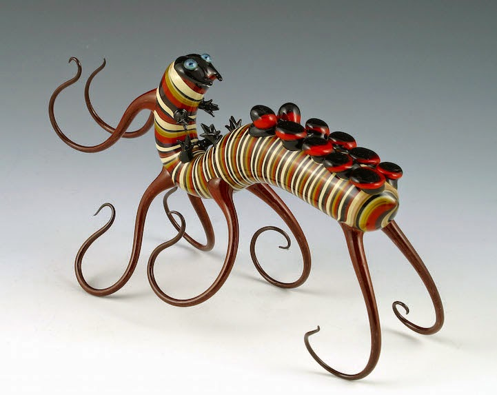 hand blown glass creatures sculptures scott bisson-7