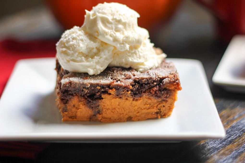 Chocolate Pumpkin Dump Cake