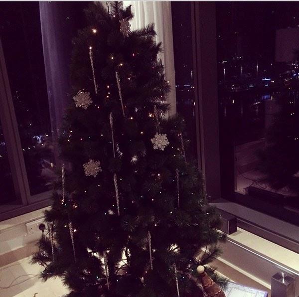 بالصور لاميتا فرنجية تزين شجرة الكريسماس بالبيجامة 6.jpg