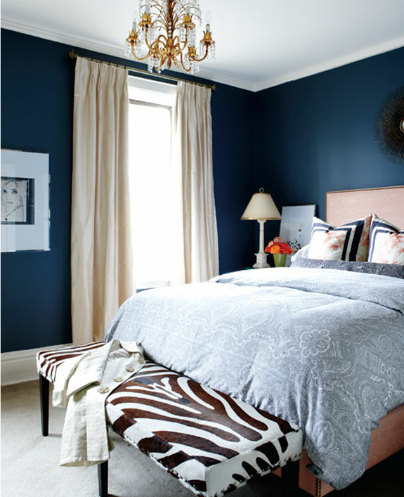 Navy Blue Room Accents