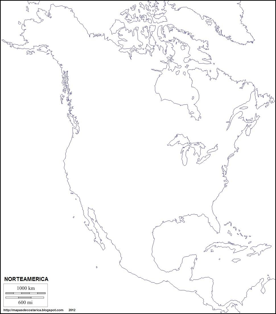 MAPAS DE: NORTEAMERICA, Subcontinente de America