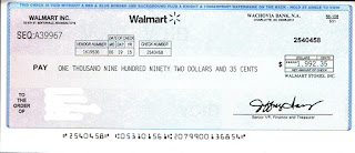 Walmart Check Scam Photo