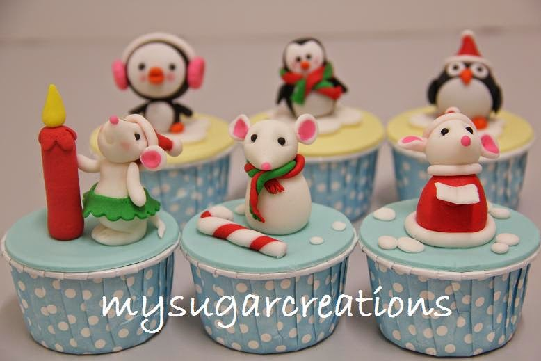 Christmas Mice & Penguin Cupcake Decorating Class