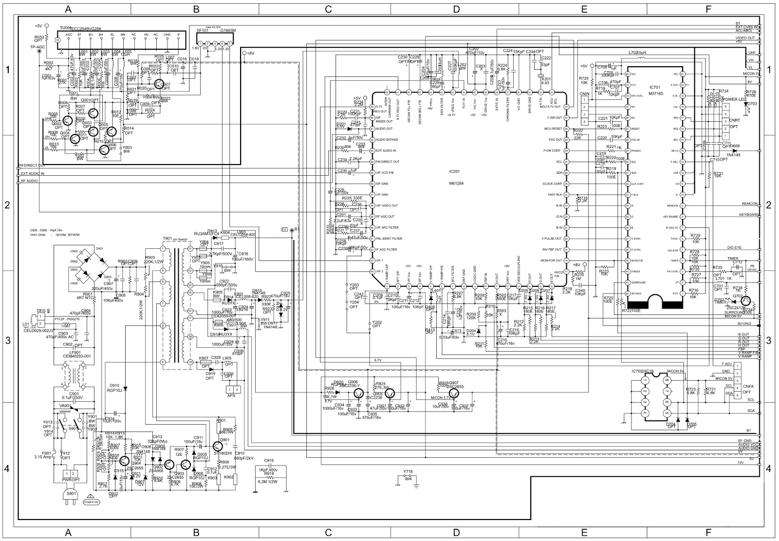 Lcd Circuit Diagram Pdf Trusted Wiring 19 Inch Monitor Power Supply Schematic Onida Igo Delite 21 U20ac U201c 14 Used Ics M37160 Rh Thecircuitdiagrams Blogspot