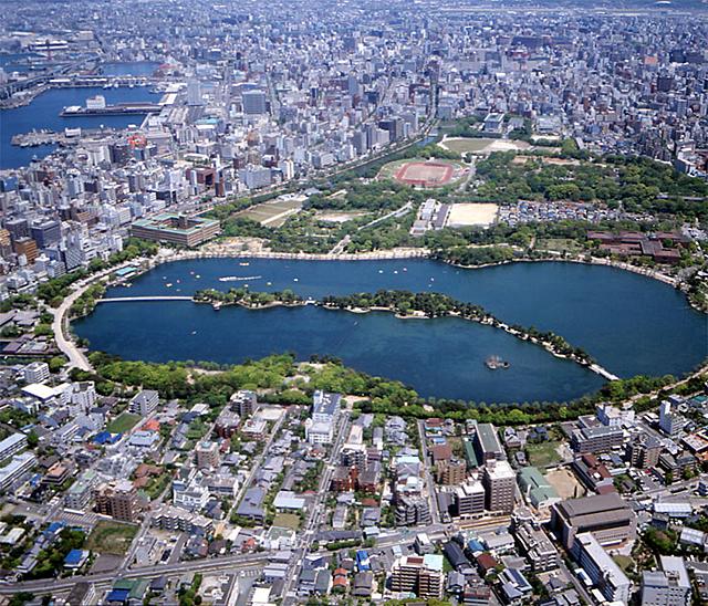 Panorámica de Fukuoka en Japón