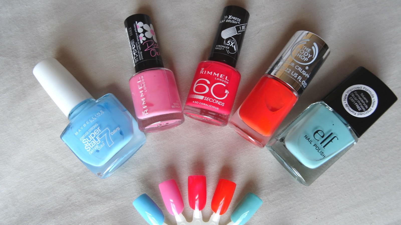 top pastel nail varnishes