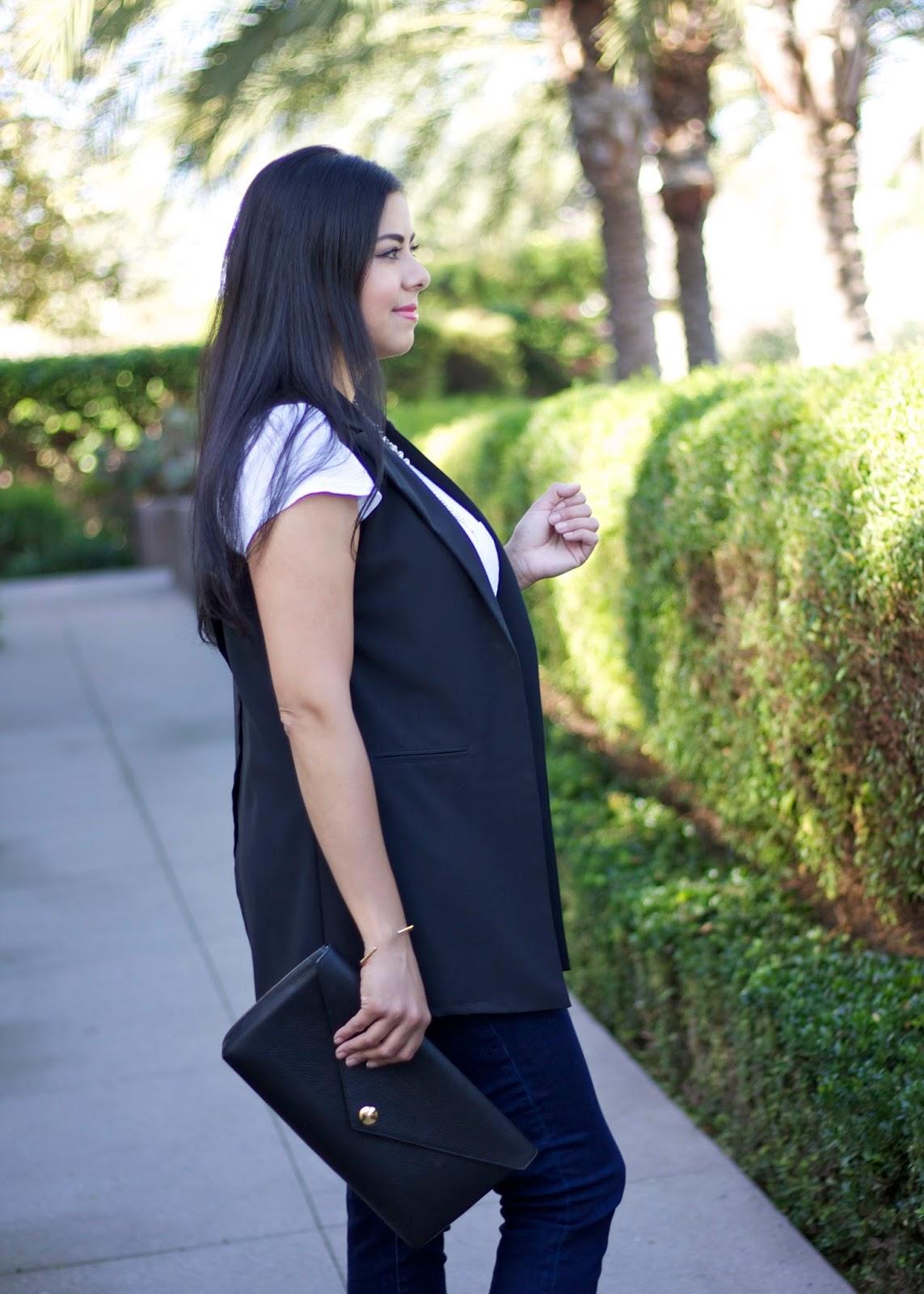 Windsor black vest, Charlotte Russe black vest, brunette blogger, mexican fashion blogger
