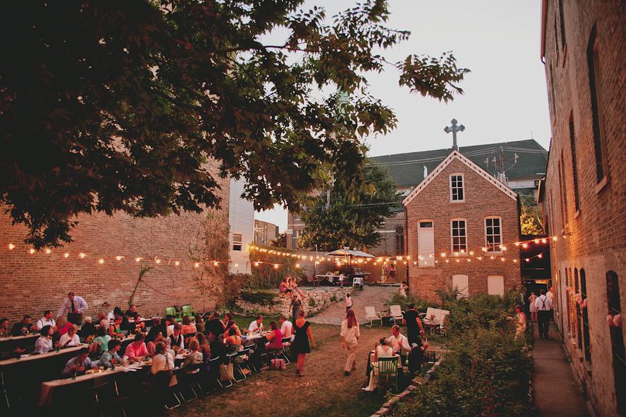 A Secret Garden Chicago ceremony outdoor