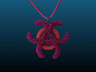 un symbole celte en scoubidou