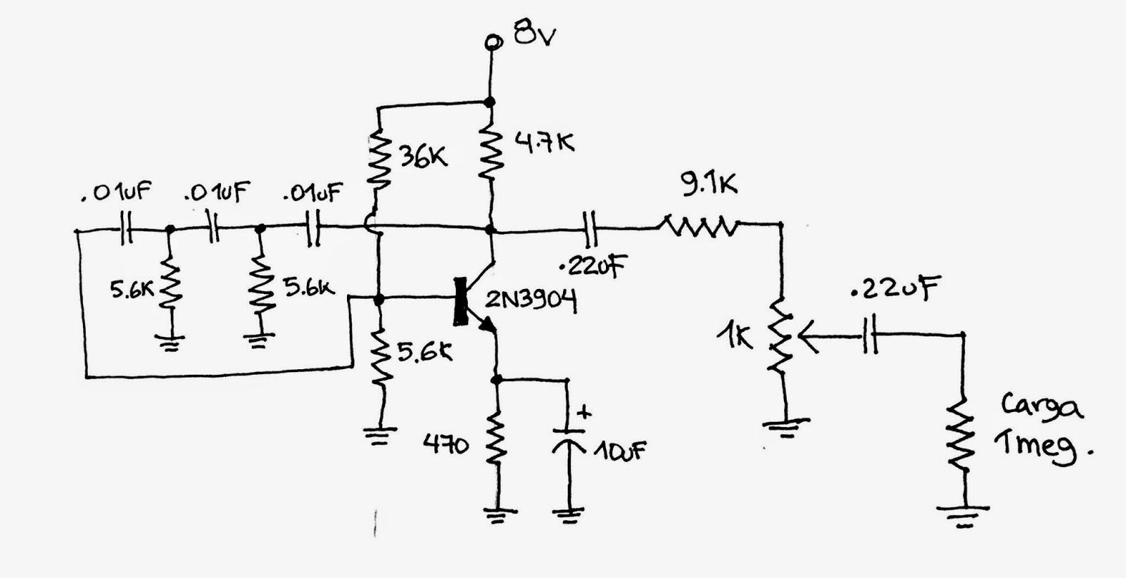 Circuito Oscilador : Insecto muerto oscilador de audio