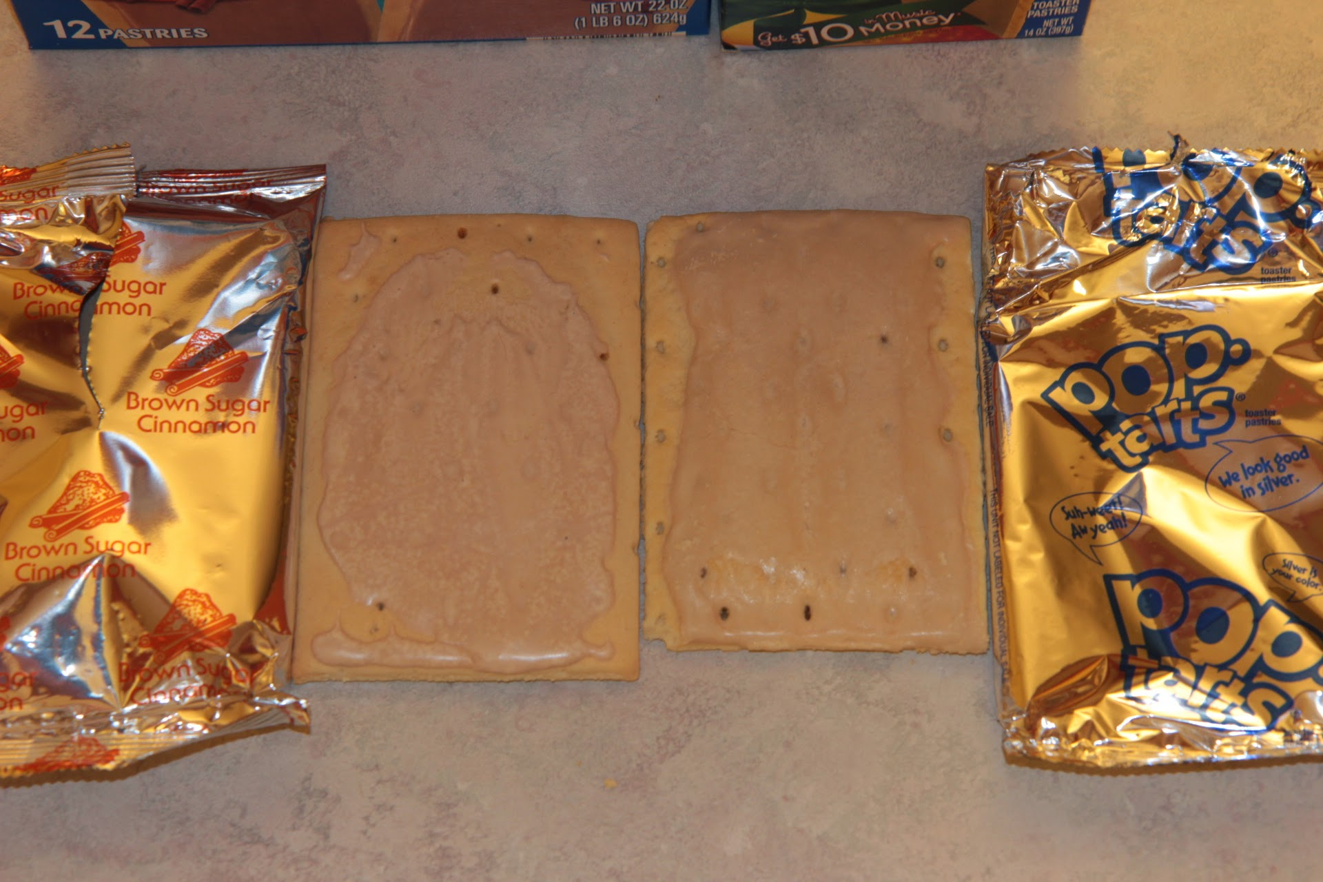 Aldi Millville Toaster Tarts vs. Kellogg's Pop Tarts Side By Side