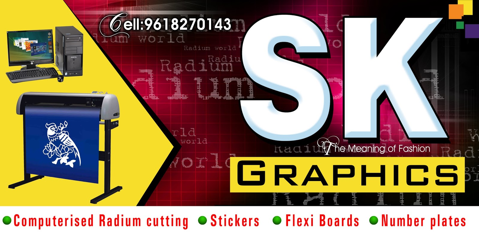 graphics shop sign board flex banner psd template free