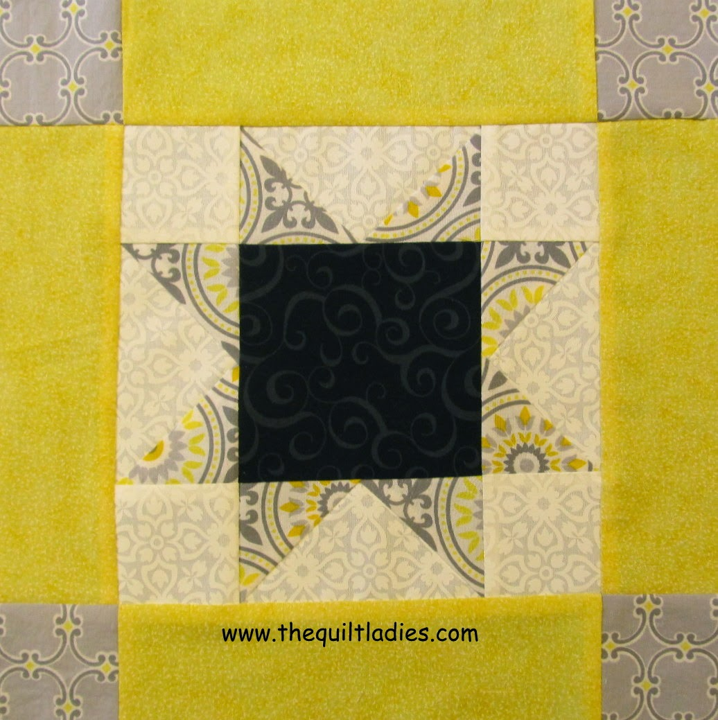 Star quilt pattern block