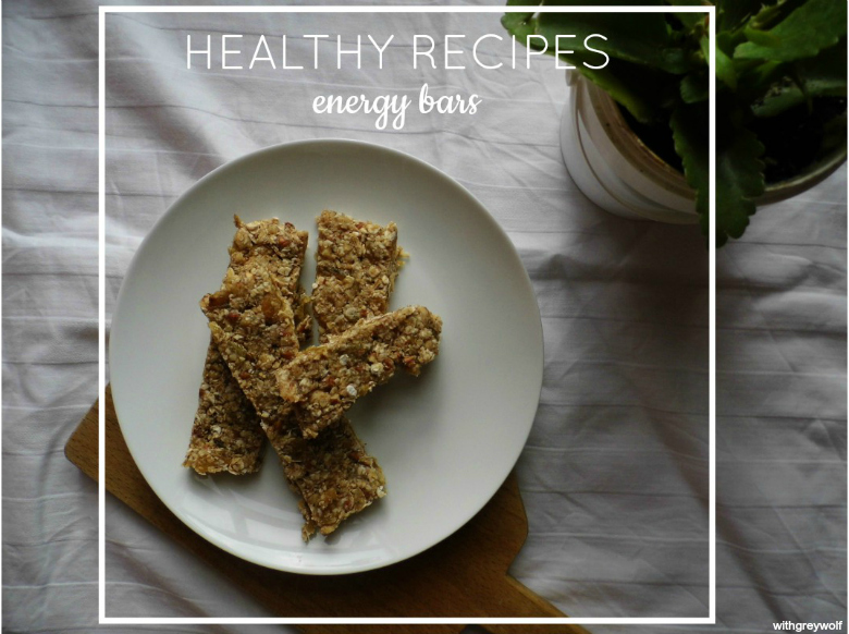 Healthy recipes: energy bars