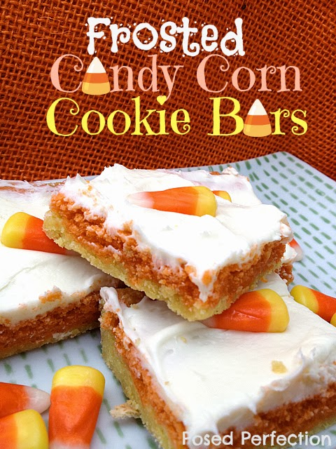 Frosted Candy Corn Cookie Bars