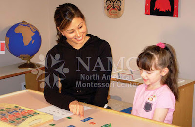 NAMC montessori how to create home prepared environment teacher and girl