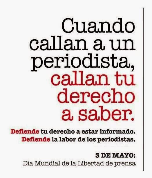 Día de la Libertad de Prensa, 3 de mayo de 2014, periodismo, democracia