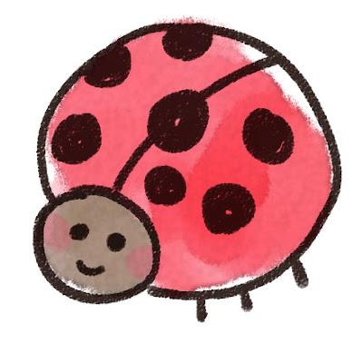 てんとう虫のイラスト(虫)