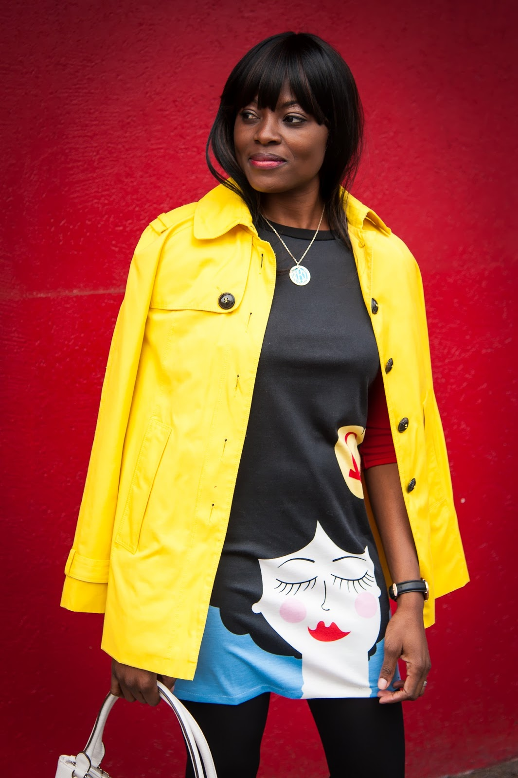 DRESSEMBER CHALLENGE: CARTOON PORTRAIT DIGITAL PRINTING SLIM DRESS