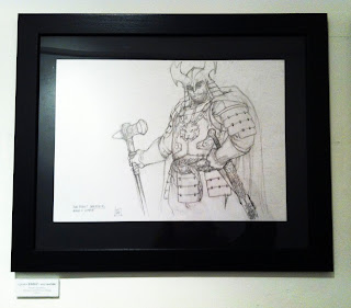 Will Simpson Game of Thrones Art exhibition at Orbital Comics - Robert Baratheon - Geek Girl Kerensa Bryant
