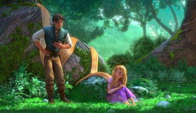 Wallpaper Rapunzel dan pujaan hatinya