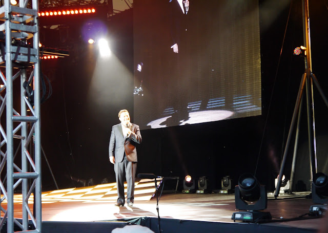 Eddie Izzard at the Eden Project with his 'Force Majeure' Tour