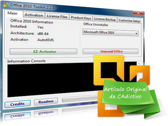 Tutorial para Activar Office 2010 con Toolkit and EZ-Activator