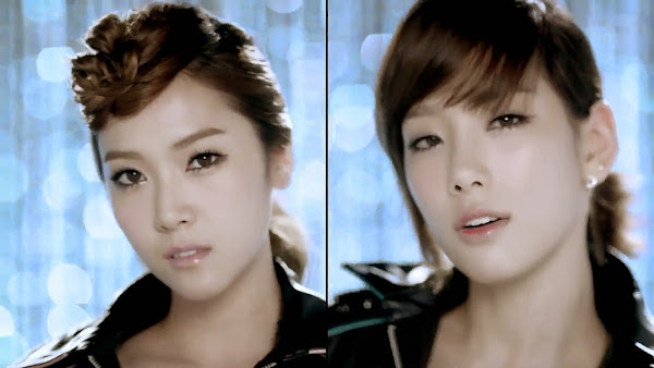 SNSD Mr. Taxi Split Screen Jessica Taeyeon